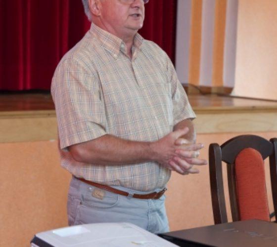 Zdj. Mieczysław Łaptaszyński Na zdjęciu Pan Zbigniew Nalichowski Wiceprezes Stowarzyszenia Opolscy Genealodzy