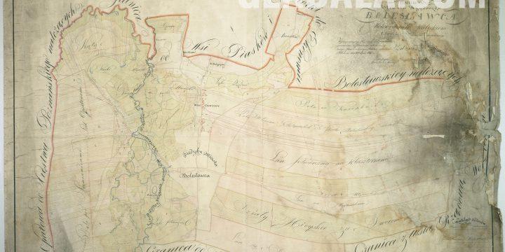 Plan Bolesławca z 1825 roku